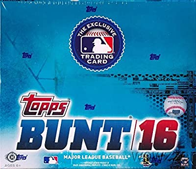 2016 Topps MLB Baseball MASSIVE Factory Sealed 36 Pack BUNT HOBBY Box with 252 Cards! Includes 12 Loot Cards which unlock Digital Cards! Look for Autographs, Inserts, Rookies & Parallels! Loaded!