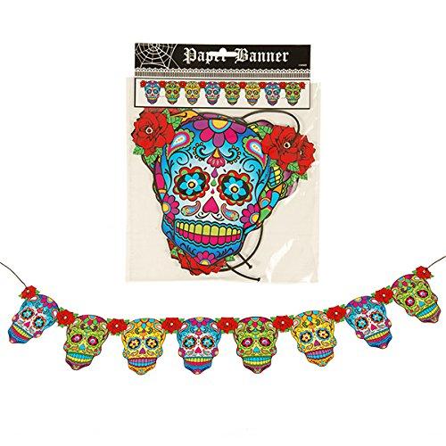 Day of the Dead Banner - Halloween Decoration - Dios de la Muerte - Sugar Skull