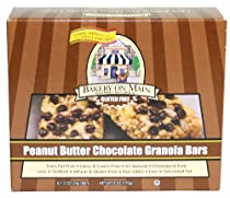 Bakery on Main Peanut Butter Chocolate Chip, Gluten Free Granola Bars,  6-Ounce, 5 Count Box, (Pack of 6)