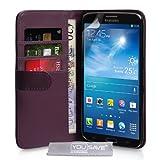 Yousave Accessories SA-EA02-Z238 Etui portefeuille en PU/cuir pour Samsung Galaxy Mega 6.3 Pourpre