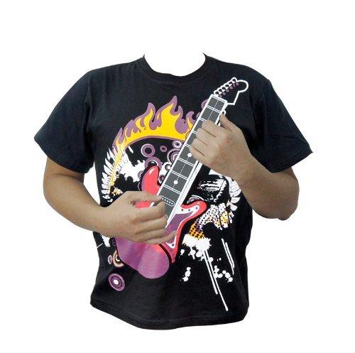KADA(TM)Newest Fashion 12 Major Chords Electric Rock Guitar T-shirt and Amplifier Combination Set