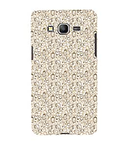 iFasho single color rectangle and circle and dots Pattern Back Case Cover for Samsung Galaxy Grand Prime