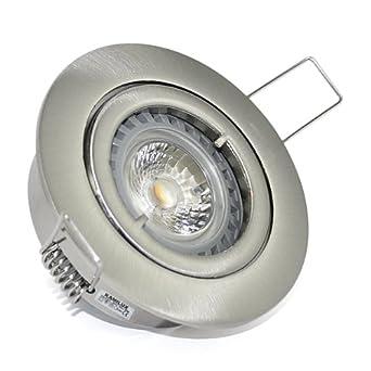 LED Deckenstrahler Set 230V 7W dimmbar Einbau Strahler Spot Hochvolt KANTO