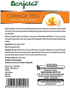 Natural Orange Peel Skin Care Super Fine Powder (Rich in Vitamin C)
