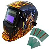 Auto Darkening Solar Welding Helmet grinding Sexy Cowgirl Flame ANSI CE Approved