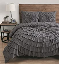 Avondale Manor 3 Piece Sadie Comforter Set Queen Grey