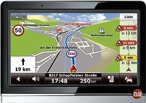 Falk Neo 450 Navigationsgerät (10,9cm (4,3 Zoll) Display, Europa 44, TMC Pro Starter, Bluetooth Pro, Sprachsteuerung, 3D Gelände, 3D Gebäude, Echt-Sicht Pro, Routenticker, TTS)