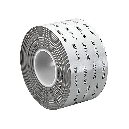 VHB Tape, 1 In x 5 yd., Gray 1-5-RP45 3m vhb tape 4926 gray 45mil 1inx36yd pack of 1