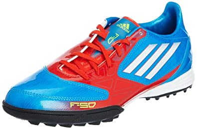 ADIDAS F10 TRX TF Men's Soccer Boots, Blue/Red, US7.5