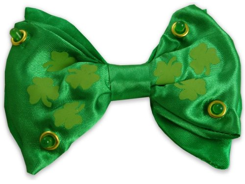 St.Patrick'S Day Led Flashing Bow Tie