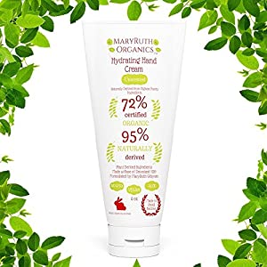 ORGANIC HAND & BODY CREAM by MARYRUTH 4oz - Unscented Lotion is a Rare Blend of 72% Organic & Plant Based Ingredients for Damaged - Dry - Chapped - Sensitive or Normal Hands, Skin & Body. Completely Non-Toxic! KOSHER Men/Women