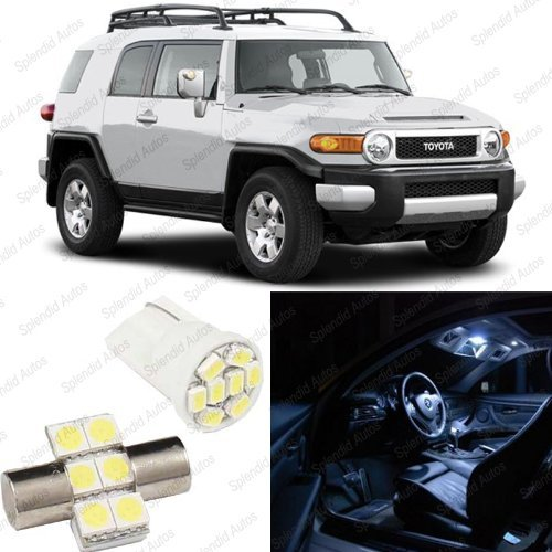 Splendid Autos Xenon White Led Toyota Fj Cruiser Interior Package Deal 2008 And Up (4 Pieces)