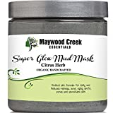 Facial Mud Mask - Organic Ingredients - Includes Ebook - Smooths Skin and Reduces Pores, Improves Aging Spots, Redness, Blemishes, Cystic Acne, Pimples, Blackheads - Reduces Fine Lines