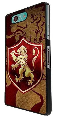 523 - Game of Thrones Sigil House Lannister Symbol Emblem Design für Alle Sony Xperia Z / Sony Xperia Z1 / Sony Xperia Z2 / Sony Xperia Z3 / Sony Xperia Z4 / Sony Xperia Z1 Compact / Sony Xperia Z2 Compact / Sony Xperia Z3 Compact / Sony Xperia Z4 Compact / Sony Xperia M2 / Sony Xperia M4 Fashion Trend Hülle Schutzhülle Case Cover Metall und Kunststoff - Bitte wählen Sie Ihr Telefonmodell und Farbe aus der Dropbox