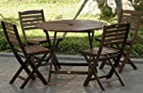 5pc-Outdoor-Wood-Folding-Patio-Dining-Set