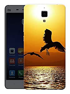 "Humor Gang Eagle Bird Flying High Printed Designer Mobile Back Cover For ""Xiaomi Redmi Mi4"" (3D, Matte, Premium Quality Snap On Case)"