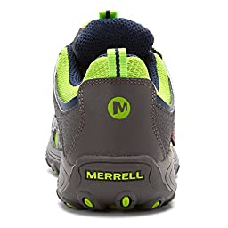 Merrell Chameleon Low WT Hiking Boot (Little Kid/Big Kid),Grey/Green,12 W US Little Kid