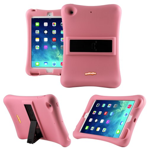 Anitoon Amplifier Speaker Case Cover For Ipad Mini & Ipad Mini With Retina Display Pink With Armor Body And Stand
