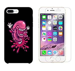 Snoogg Multiple Mouth Combo Designer Protective Back & Shatter Proof Tempered Glass For APPLE IPHONE 7