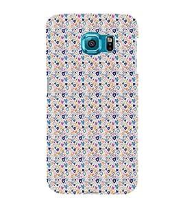 ifasho Designer Phone Back Case Cover Samsung Galaxy S6 G920I :: Samsung Galaxy S6 G9200 G9208 G9208/Ss G9209 G920A G920F G920Fd G920S G920T ( Colorful Pink Heart Pattern Design )
