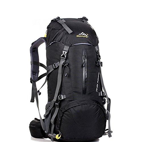 Grand voyage de capacité sac / alpinisme sacs / sac à dos en plein air / sac de sport imperméables-noir 50L