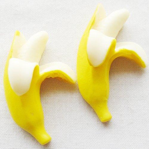 Chenkou Craft Banana Resin Flatbacks 30x28mm Scrapbooking Lots Bulk Mix 20pcs (Banana Resin compare prices)