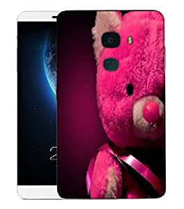 Snoogg Pink Teddy Bear Designer Protective Back Case Cover For LETV LE MAX