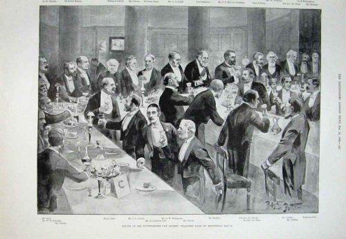 Law Society Dinner Chancery Lane 1894 Antique Print