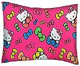 SheetWorld Crib / Toddler Percale Baby Pillow Case - Hello Kitty Bows - Made In USA