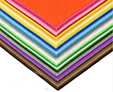 LifeGlow Crafts DIY Polyester Felt Nonwoven Fabric Sheet for Craft Work 40 Colors Squares 11.81*11.81inch (30*30cm), About 1mm Thick, Type B (Type B 1mm)