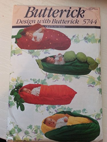 Butterick 5744 Infant Buntings: Pea Pod, Corn, Strawberry, Carrot front-326799