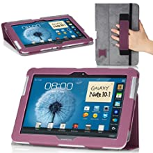MoKo Slim Cover Case For Samsung Galaxy Note 10.1 N8000 N8010 N8013 Tablet Purple (with Flip Stand And Integrated...