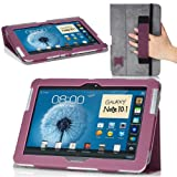 MoKo Slim Cover Case for Samsung Galaxy Note 10.1 N8000 N8010 N8013 Tablet, Purple (with Flip Stand, and Integrated Elastic Hand Strap)