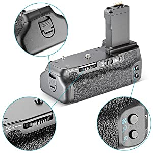 Neewer® NW-760D Battery Grip Replacement for BG-E18 Work with LP-E17 Battery for Canon EOS 750D/T6i, 760D/T6s