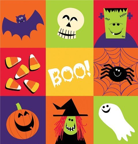 Creative Converting Halloween Spooky Friends Plastic Banquet Table Cover by Creative Converting