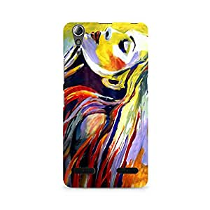 MOBICTURE Girl Abstract Premium Designer Mobile Back Case Cover For Lenovo A6000