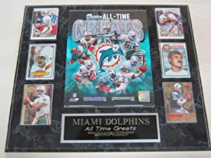 Miami Dolphins All Time Greats 6 Card Collector Plaque by J & C Baseball Clubhouse