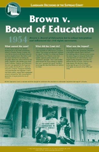 Brown v. Board of Education, Topeka KS - Landmark Decisions of the Supreme Court Poster