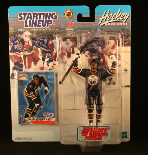 MIKE GRIER / EDMONTON OILERS 2000-2001 NHL Starting Lineup Action Figure & Exclusive Collector Trading Card