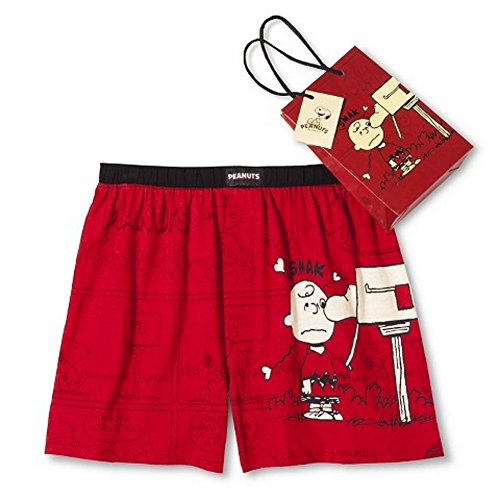 "Men's Peanuts Boxer Shorts with Gift Bag Charlie Brown ""Smak"""