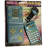 PACK de Tetris + Reloj + Calculadora para niños - Mod.EV-3000 Color Azul
