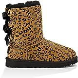 UGG Australia Bailey Bow Leopard Girls Boots