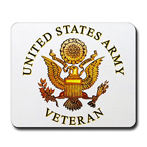 CafePress - US Army Veteran Mousepad - Non-slip Rubber Mousepad, Gaming Mouse Pad (Army Mouse Pad compare prices)