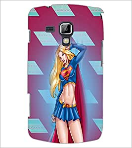 PrintDhaba Superwoman D-4508 Back Case Cover for SAMSUNG GALAXY S DUOS 2 S7582 (Multi-Coloured)