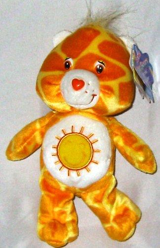 "Care Bear Funshine Bear 2007 8"" Spotted Fabric - 1"