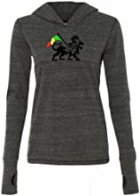 Yoga Clothing For You Ladies Rasta Lion Tri-Blend Hoodie