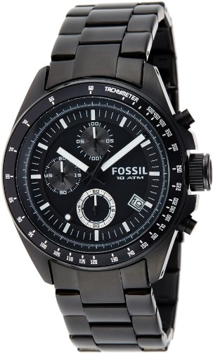 Fossil Men's CH2601 Black Stainless Steel Bracelet Black Analog Dial Chronograph Watch