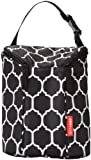 Skip Hop Grab & Go Double Bottle Bag, Onyx Tile