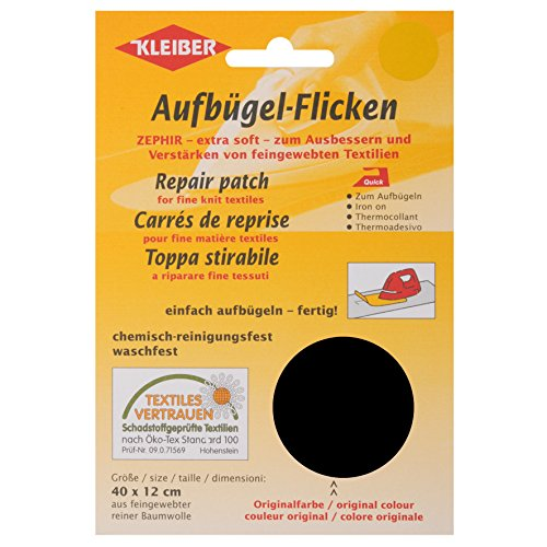 kleiber-40-x-12-cm-cotton-iron-on-repair-patch-for-fine-knit-textiles-black
