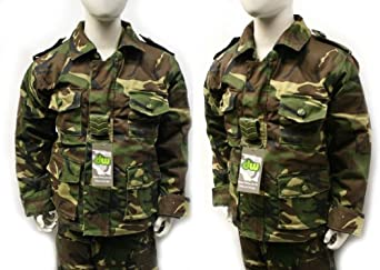 Kids camo camouflage woodland safari army jacket coat (3-4 years)